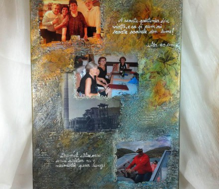 Tablou personalizat  mixed media unicat